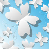 Paper butterflies Royalty Free Stock Image