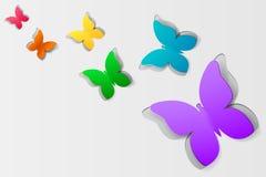 Paper butterflies Stock Images