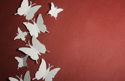 Paper butterflies Royalty Free Stock Photos