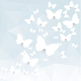 Paper butterflies Stock Images