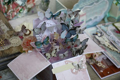 Paper butterflies have departed. Stock Images
