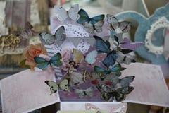Paper butterflies. Stock Photography