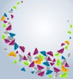 Paper butterfly. Origami  abstract background. Paper butterfly in the sky Royalty Free Stock Photography
