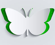 Paper butterfly. Decoration, greeting card Stock Photo