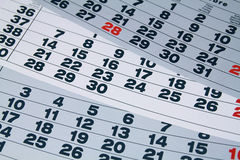 Paper calendar Stock Photography