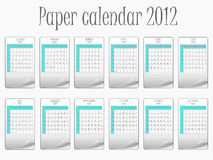 Paper calendar 2011. Paper calendar 2011, abstract vector art illustration Stock Photo