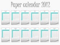 Paper calendar 2011  Stock Photo