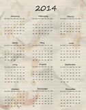Paper calendar 2014 Royalty Free Stock Image