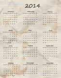 Paper calendar 2014 Royalty Free Stock Image