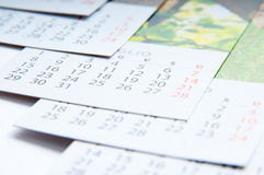 Paper calendars Royalty Free Stock Photography