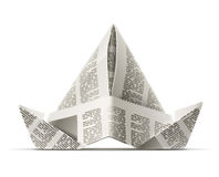 Paper cap as origami handicraft Stock Photos
