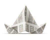 Paper cap as origami handicraft stock illustration