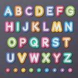 Paper capital alphabet letters. Colorful paper capital alphabet letters a to z fonts Royalty Free Stock Images