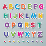 Paper capital letters. Colorful paper capital letters a to z fonts Stock Images