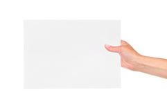 Paper card Stock Image