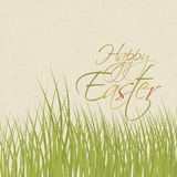 Paper card with easter royalty free illustration