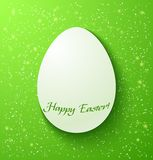 Paper card easter eggs on green background Royalty Free Stock Images