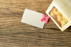 Paper card and gift box Stock Images