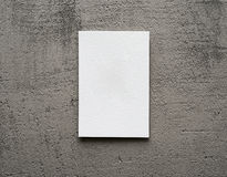 Paper card on a gray background Royalty Free Stock Image