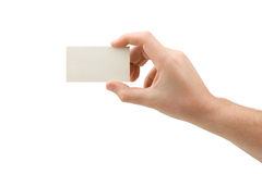 Paper card in hand Royalty Free Stock Photography