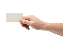 Paper card in hand Royalty Free Stock Image