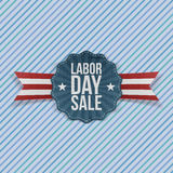 Paper Card with Labor Day Sale Text Royalty Free Stock Photo