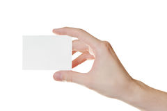 Paper card in man hand Stock Photography