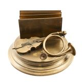 Paper and card metal holder Royalty Free Stock Images