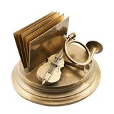 Paper and card metal holder Royalty Free Stock Photo