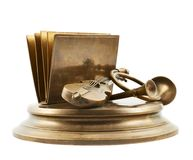 Paper and card metal holder Stock Images