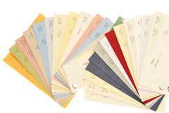 Paper And Card Samples Stock Image