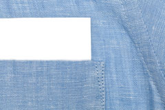 Paper card in shirt pocket Royalty Free Stock Photography