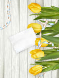 Paper card with tulips. EPS 10 Royalty Free Stock Photo