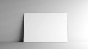 Paper card on a wall Royalty Free Stock Photo
