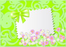 Paper card with wild flowers Stock Photo