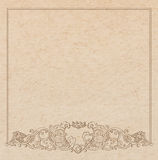 Paper cardboard with vintage frame Royalty Free Stock Photos