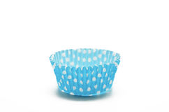 Paper case blue for cupcakes Stock Photography