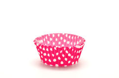 Paper case pink for cupcakes Stock Images