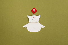 Paper cat applique Royalty Free Stock Photos