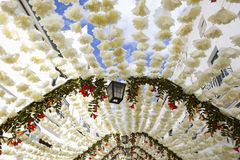 Paper ceiling at Campo Maior Festival, Portugal Stock Photography