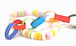 Paper chain and candy chain Stock Photo