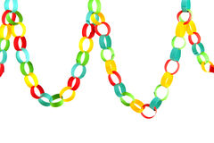 Paper chain for celebration Stock Photos