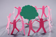 Paper chain dolls Royalty Free Stock Images