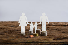 Paper chain family symbolizing. Real estate loan concept Stock Image