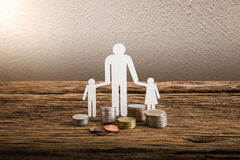 Paper chain family symbolizing. Real estate loan concept Stock Photography