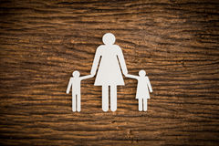 Paper chain family symbolizing Royalty Free Stock Image