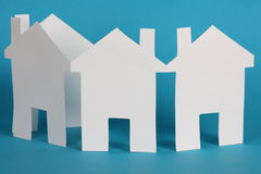 Paper Chain of Houses Stock Photo