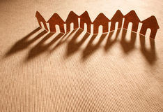Paper chain neighborhood Royalty Free Stock Images
