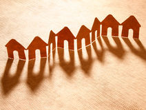 Paper chain neighborhood Royalty Free Stock Image