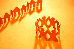 Paper chain neighborhood and community Royalty Free Stock Photography